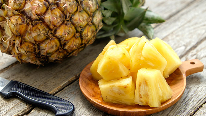 Ananász kalória