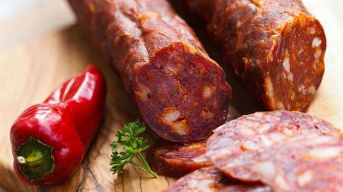 Chorizo kolbász kalória