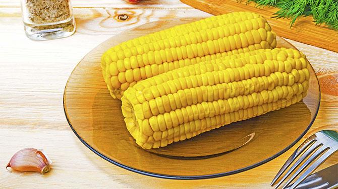 Főtt kukorica kalória