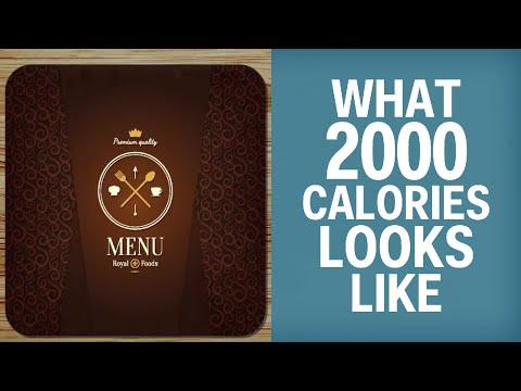 Így néz ki 2000 kalória