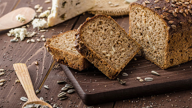 Magvas barna kenyér kalória