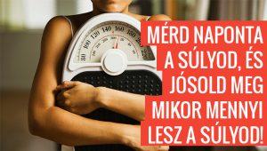 Mérd naponta a súlyod, és jósold meg mikor mennyi lesz a súlyod!