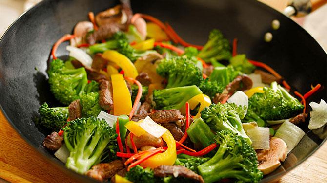 Párolt zöldség kalória