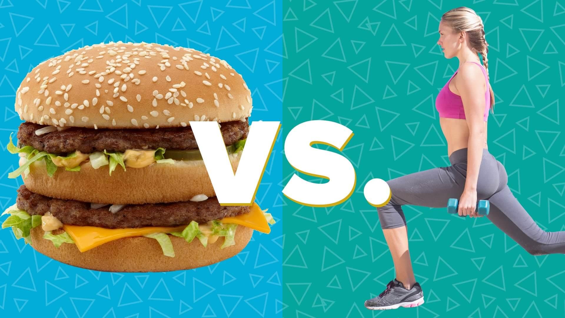 Mennyi mozgás kell egy hamburger kalóriájának elégetéséhez?